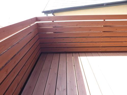 ベランダデッキとフェンスの施工事例をご紹介_d0237564_1724336.jpg