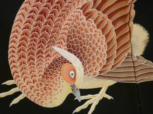 黒留袖 山鳥   <東京染めの着物>_d0159384_22151573.jpg