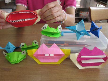 クリスマス 折り紙 折り紙 ぱくぱく : pichiku.exblog.jp