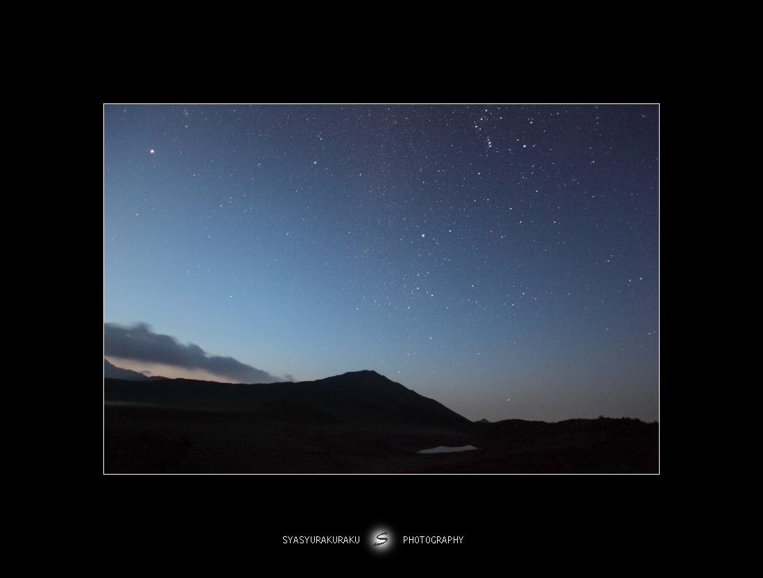 烏帽子岳とオリオン_c0253556_538026.jpg