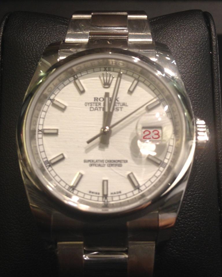 save off a5008 3e08c Rolex ロレックス 特価 116200 デイトジャスト ホワイト (新品 ...