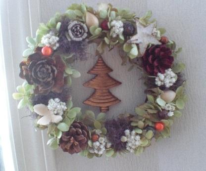 秋冬長く飾れるクリスマスリース_c0207719_14165233.jpg