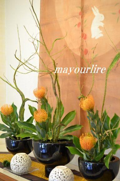 9月  テーブルコーディネート マユールライラ 海吉教室_d0169179_1635550.jpg