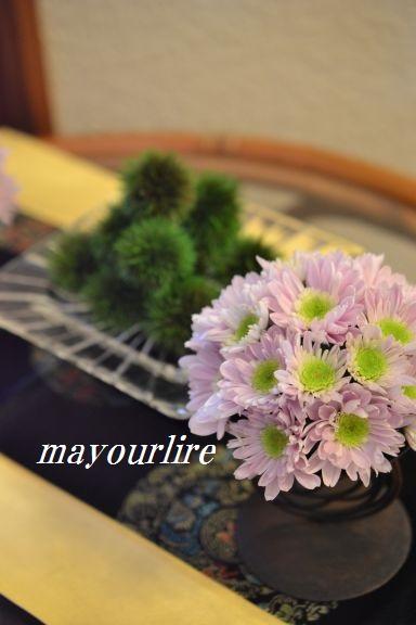 9月  テーブルコーディネート マユールライラ 海吉教室_d0169179_1684110.jpg