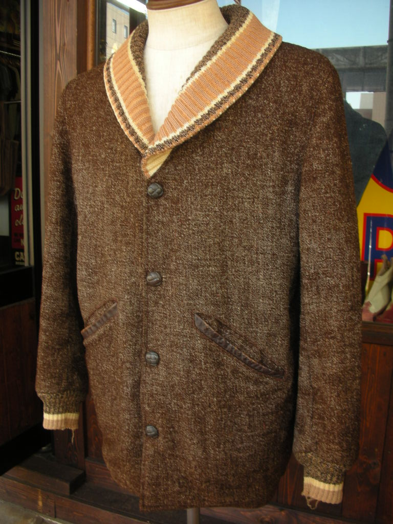 1950\'S PENNEY\'S BIG SHAWL COLLAR FLECK WOOL FARAOH COAT 詳細画像_c0187684_17583542.jpg