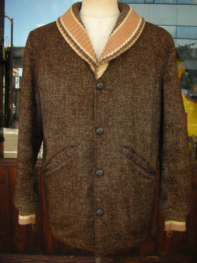 1950\'S PENNEY\'S BIG SHAWL COLLAR FLECK WOOL FARAOH COAT 詳細画像_c0187684_17584967.jpg