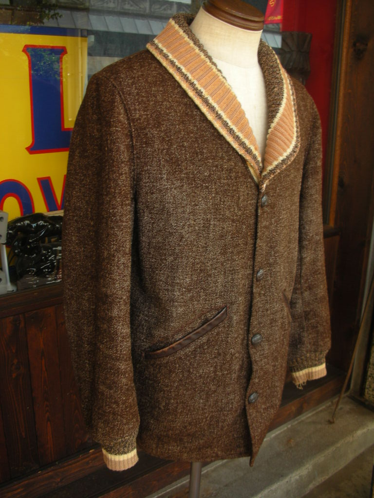 1950\'S PENNEY\'S BIG SHAWL COLLAR FLECK WOOL FARAOH COAT 詳細画像_c0187684_17591113.jpg