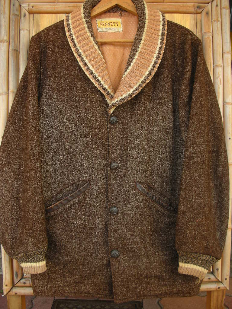 1950\'S PENNEY\'S BIG SHAWL COLLAR FLECK WOOL FARAOH COAT 詳細画像_c0187684_17594536.jpg