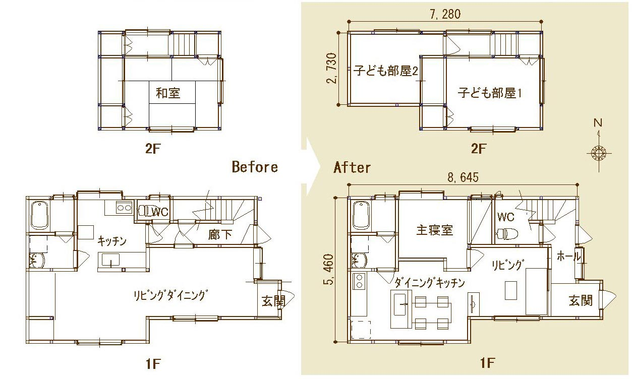 子育て世帯のリノベーション 中木戸の家のプランニング_b0349892_09234961.jpg