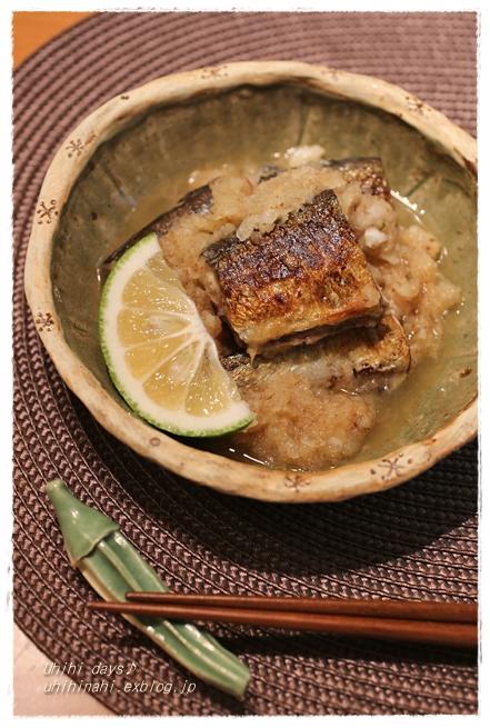 秋刀魚のみぞれ煮 と 秋刀魚のなめろう_f0179404_21224727.jpg