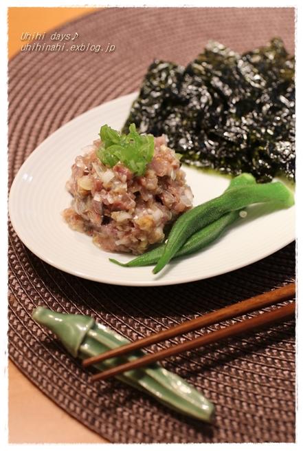 秋刀魚のみぞれ煮 と 秋刀魚のなめろう_f0179404_2125358.jpg