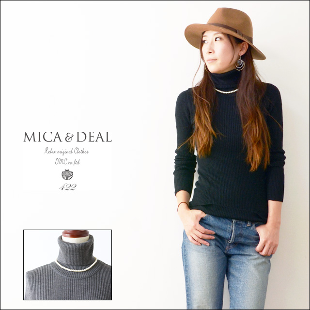 MICA&DEAL [マイカアンドディール] リブタートル with parlneckless [M14C076] LADY\'S_f0051306_2134666.jpg