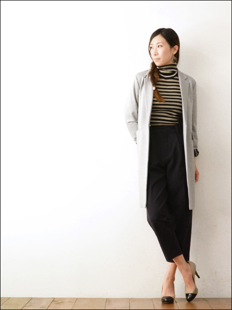MICA&DEAL [マイカアンドディール] ボーダーリブタートル with parlneckless [M14C077] LADY\'S_f0051306_216357.jpg