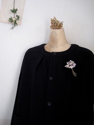 秋色紫陽花と蝋の蕾のブーケ_f0134670_242898.jpg