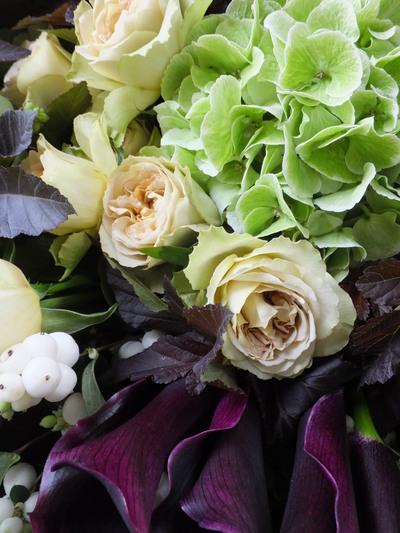 オークリーフ(カラーホットチョコレートを入れた花束)_f0049672_16435122.jpg