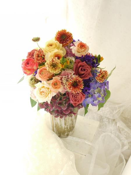ご両親への贈呈花 とブログ一休み中 カルペディエムとは_a0042928_22374334.jpg