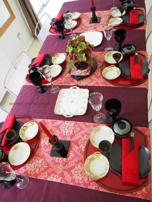 和洋折衷(日英折衷)テーブルコーディネートでたこ焼きパーティー♪_b0313387_06314882.jpg
