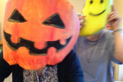 2014年10月18日 ハロウィンのお面作り_f0224207_12203426.jpg