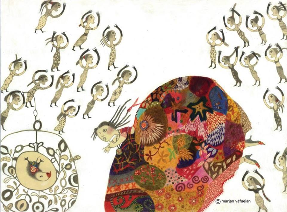 Marjan Vafaeidan「オウムと商人」原画展_c0192615_22412326.jpg