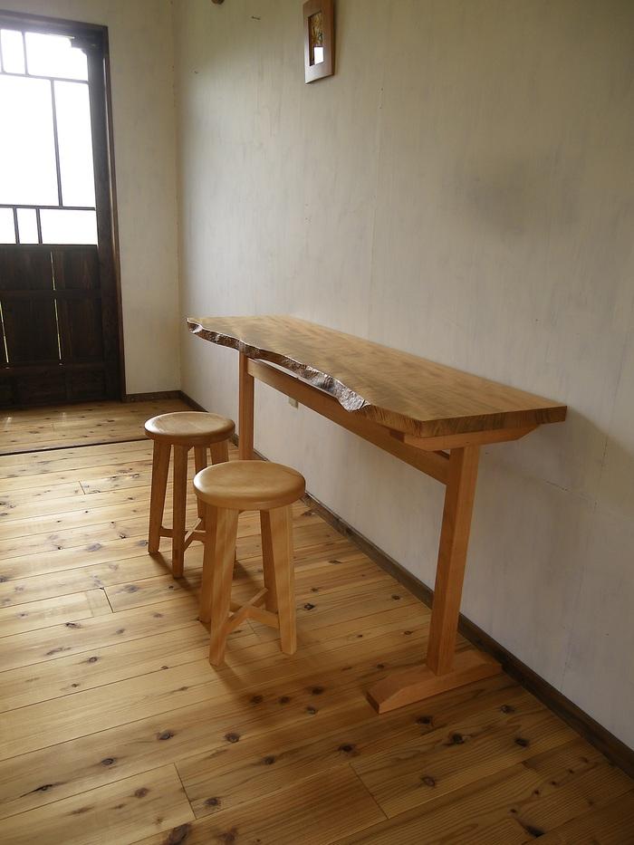 新作3山桜のカウンターテーブル_e0148633_1816944.jpg