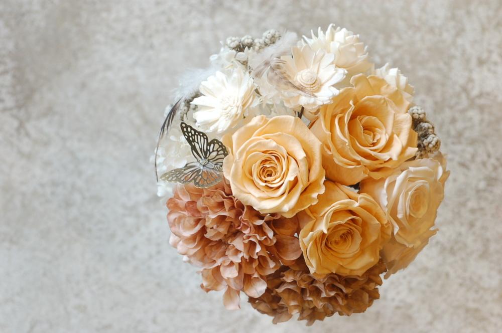 プリザーブド・ドライフラワーのロマンティック 花冠&ブーケ♪_a0060141_16585915.jpg