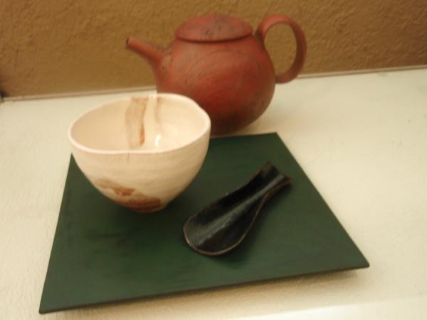 漆の茶匙、角皿_b0132442_17114218.jpg