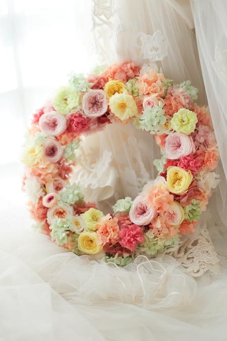 ウエルカムボード 花のリース ホテルエドモント様へ_a0042928_22574974.jpg