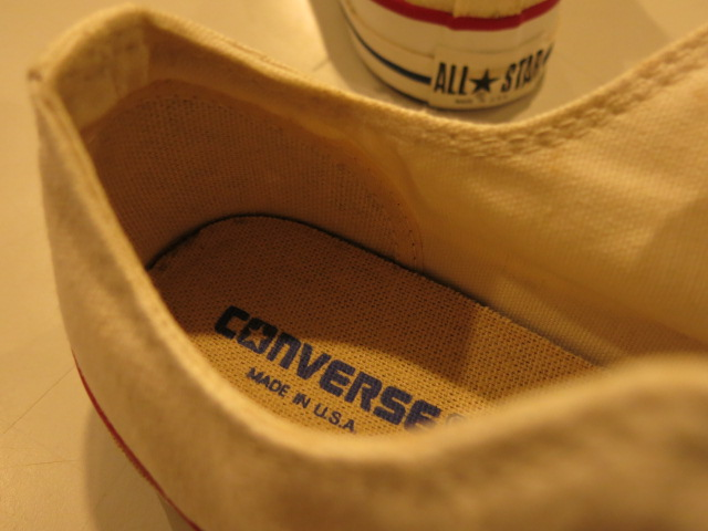 """CONVERSE ALL STAR LOW WHITE MADE IN USA\""ってこんなこと。_c0140560_9141024.jpg"