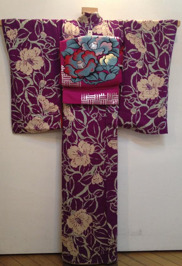 明日より!「レトロ着物と古道具」紫椿着物♪販売商品20_c0321302_7354614.jpg