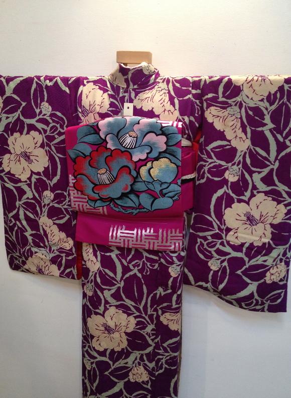 明日より!「レトロ着物と古道具」紫椿着物♪販売商品20_c0321302_7355785.jpg