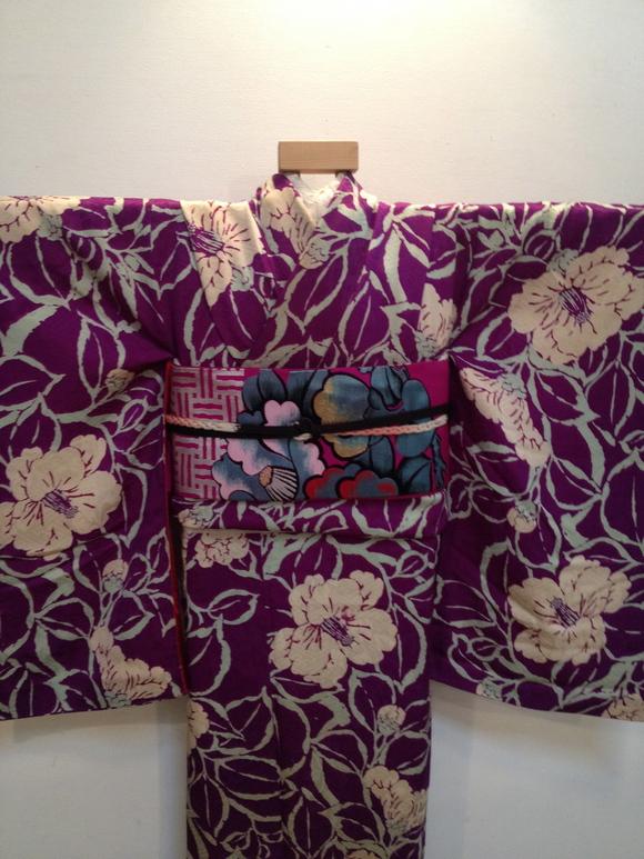 明日より!「レトロ着物と古道具」紫椿着物♪販売商品20_c0321302_7361898.jpg