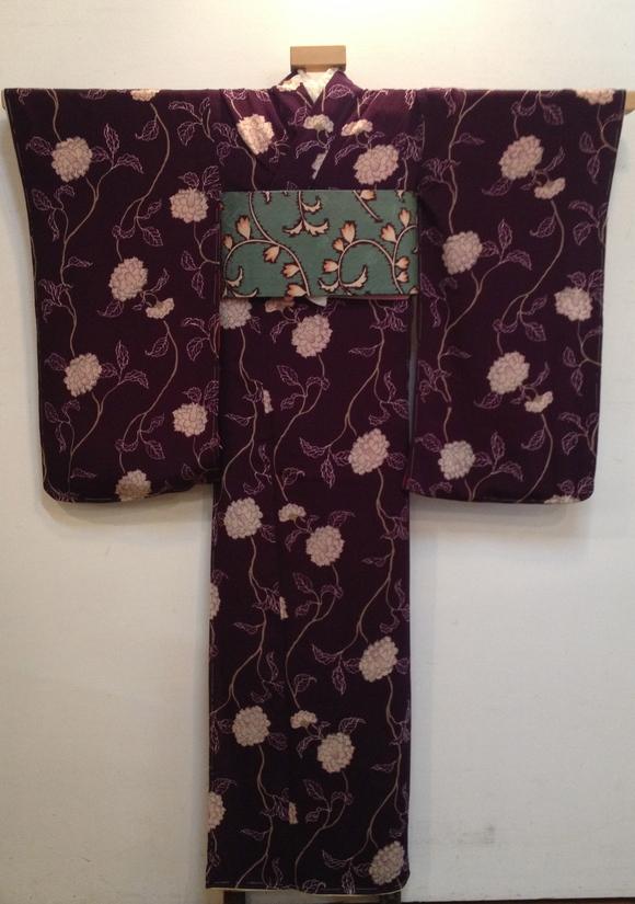 明日より!「レトロ着物と古道具」紫椿着物♪販売商品20_c0321302_7363445.jpg