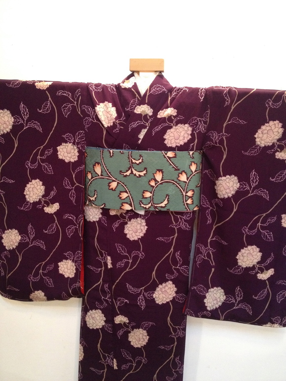 明日より!「レトロ着物と古道具」紫椿着物♪販売商品20_c0321302_7365613.jpg