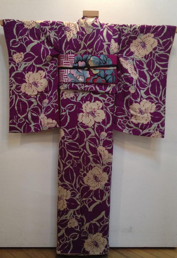 明日より!「レトロ着物と古道具」紫椿着物♪販売商品20_c0321302_736654.jpg