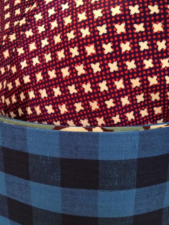 明日より!「レトロ着物と古道具」青格通し着物・赤ドットクロス着物♪販売商品25_c0321302_875965.jpg