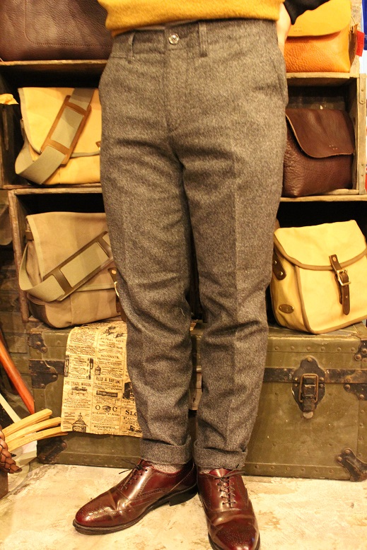 "KIFFE ""WOOL STRETCH TAPERED PANTS\"" & KAMO_f0191324_12164836.jpg"