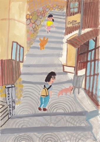 広島・山口旅絵日記(2)_d0259392_1825561.jpg