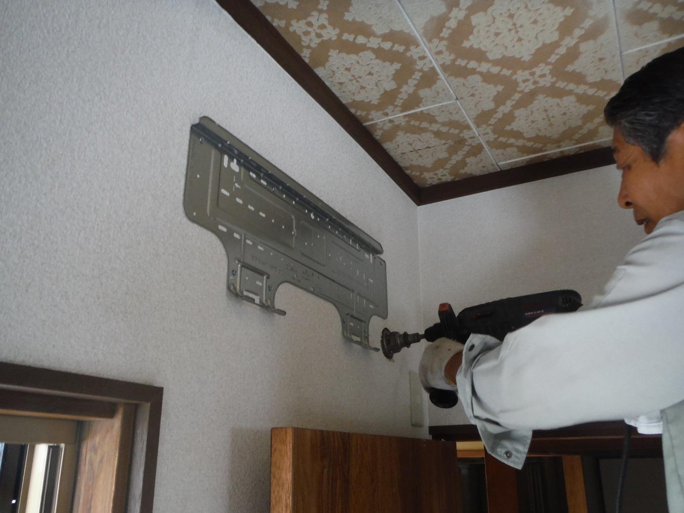 中古住宅リフォーム ~ エアコン取付_d0165368_803473.jpg