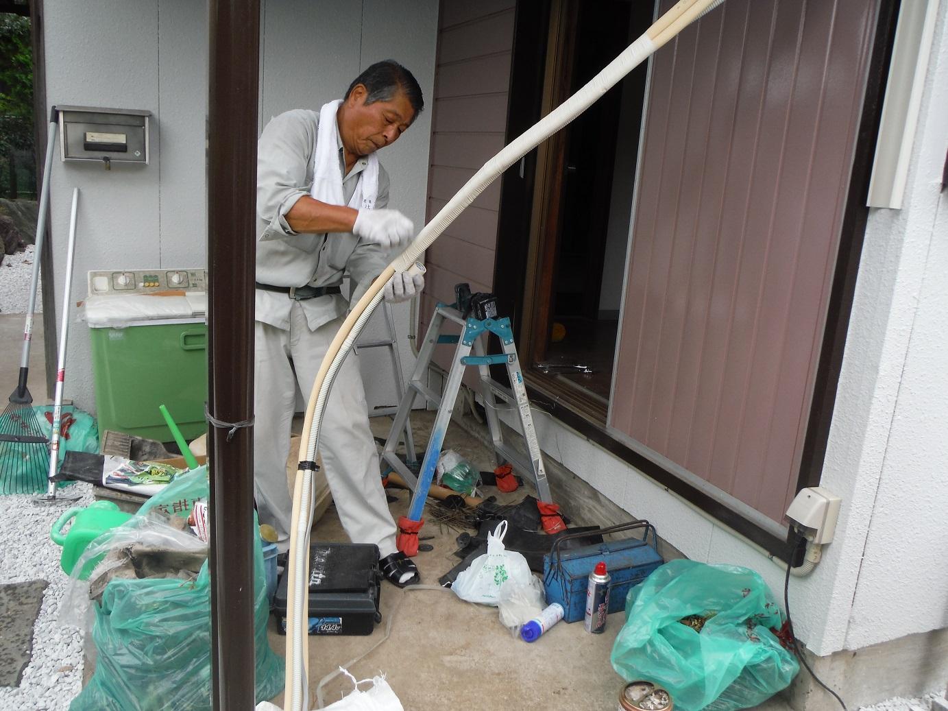 中古住宅リフォーム ~ エアコン取付_d0165368_853041.jpg