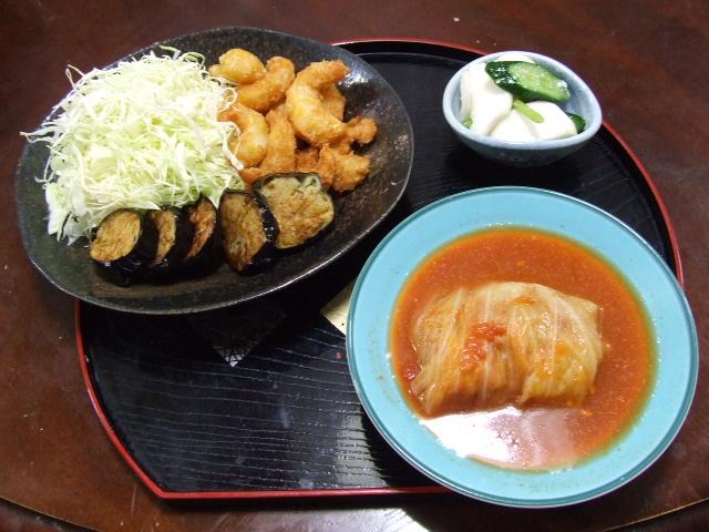 夕食は、たれかつ弁当でした_f0019498_17575083.jpg