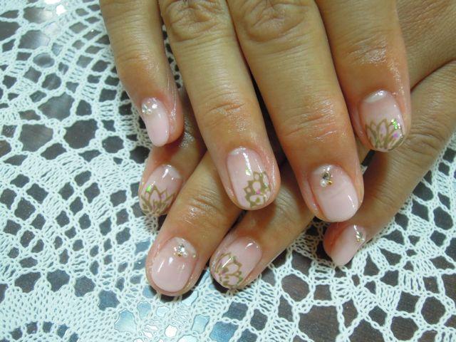 Ethnic Flower Nail_a0239065_17534144.jpg