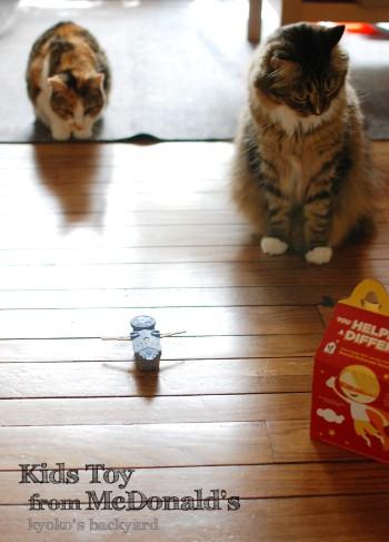 マクドナルドのおまけで遊ぶ猫_b0253205_04235610.jpg