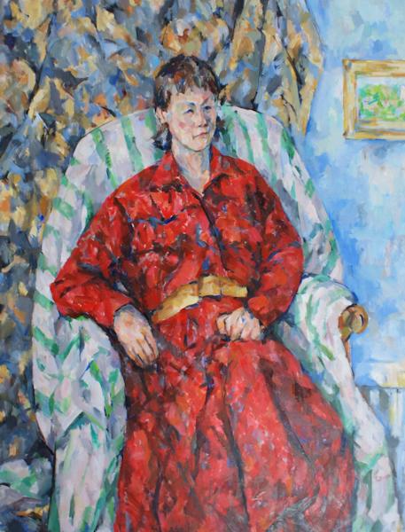 赤い服の夫人像(完成)_c0236929_21485524.jpg