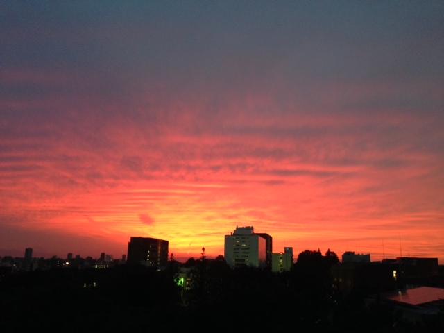 今日の空(^^)~夕焼けと、そして・・・。~_b0298740_00040313.jpg