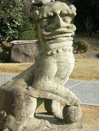 狛犬と蹴鞠 二題_c0340785_15264627.jpg
