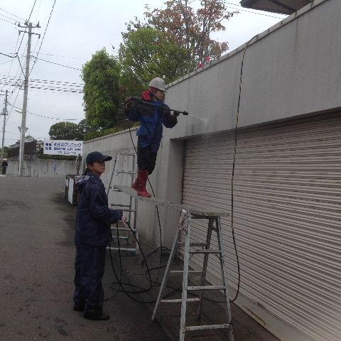 外構塗装 高圧洗浄_f0031037_17411477.jpg