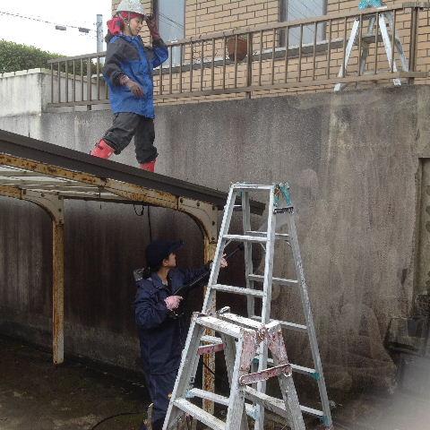 外構塗装 高圧洗浄_f0031037_1741811.jpg