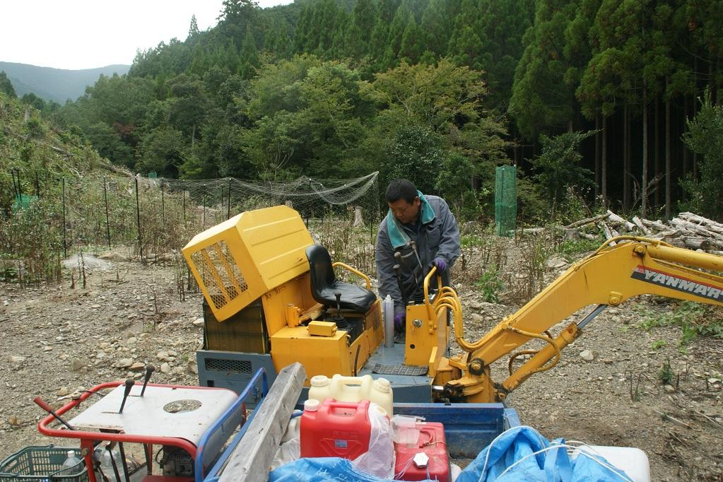 平成廿六年 十月二日~十二日 農地造成 於熊野_a0165993_1041344.jpg