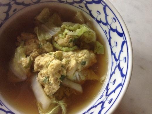 うさぎつくねの白菜スープ_a0136671_4573999.jpg