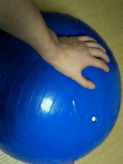 フィットネス・ボールをもらった_f0133526_21302722.jpg